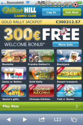 William Hill Mobiili Casino aula